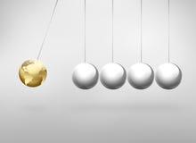 Newton pendulum Stock Image