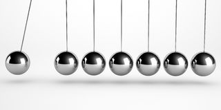 Newton pendulum  Royalty Free Stock Images