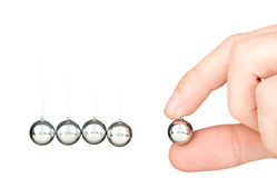 Newton's collision balls Stock Image