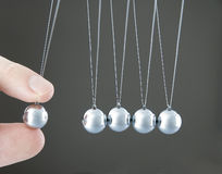 Newton's collision balls Royalty Free Stock Photos