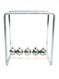 Newton's Cradle. Balancing balls Stock Photo