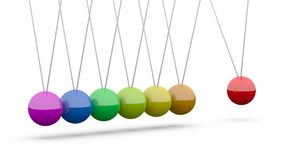 Newton's cradle Royalty Free Stock Images