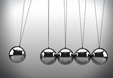 Newton's cradle. Can be used as an executive's desktop toy or an educational tool Royalty Free Stock Photos