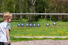 Newton's Cradle. Royalty Free Stock Photo