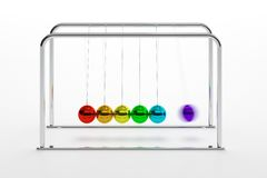 Newton's cradle Royalty Free Stock Photography