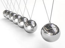 Newton's cradle balancing balls Royalty Free Stock Photography