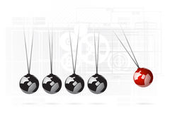 Newton's cradle concept Royalty Free Stock Photo