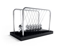 Newton's cradle dollars Royalty Free Stock Image