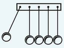 Newton's cradle. Hanging balls Stock Image