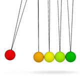 Newton's cradle. Isolated render on white background Stock Image