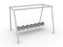 Newton's cradle without motion Stock Photo