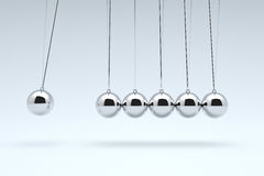 Newton`s Cradle, Time cradle. Royalty Free Stock Images