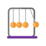 Newton`s Cradle Vector Illustration in Flat Design Royalty Free Stock Photo