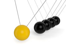 Newton's Cradle. On white background. Computer generated image with clipping path Stock Photos