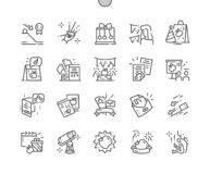 Newton`s Day Well-crafted Pixel Perfect Vector Thin Line Icons 30 2x Grid for Web Graphics and Apps. Simple Minimal Pictogram stock illustration