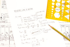 Newton's law of motion Stock Photo