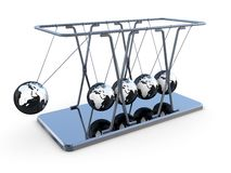 Newton's pendulum Stock Photos