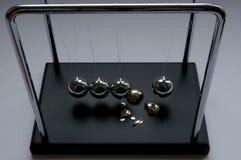 Newton's pendulum crash Stock Image