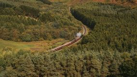 Newtondale, seen from the Levisham Moor, North Yorkshire, England, UK. Near Levisham, North Yorkshire, England, UK: September 13, 2018: A train of the historic stock images