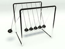 Newtons Cradle. A computer generated newtons cradle Royalty Free Stock Photos