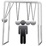 Newtons Cradle Cradles Man Head Stock Photos