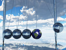 Newtons Cradle Earth Royalty Free Stock Photos