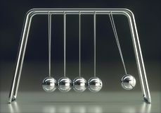 Newtons Cradle Energy Conservation Royalty Free Stock Photography