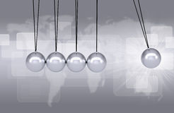 Newtons cradle executive toy Royalty Free Stock Photos