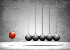 Newtons cradle, illustration, vector, seamless loop, science, gr Royalty Free Stock Images