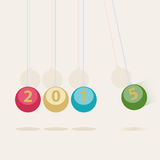 Newtons Cradle New Year card Royalty Free Stock Images