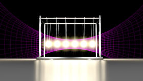 Newtons Einstein Gravity Well Cradle Royalty Free Stock Image