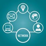 Newtork design. Network design over blue background, vector illustration Royalty Free Stock Photo