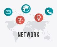 Newtork design. Network design over white background, vector illustration Stock Images