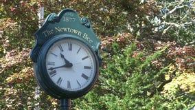 Newtown clock (1 of 1) stock video