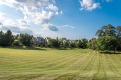 A view of Newtown Grant in Bucks County, PA stock photography