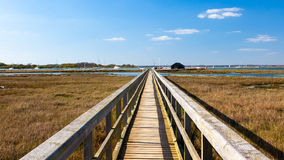 Newtown Harbour National Nature Reserve Isle Of Wight England. Boardwalk at Newtown Harbour National Nature Reserve Isle Of Wight England Royalty Free Stock Photos
