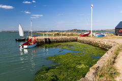 Newtown Harbour National Nature Reserve Isle Of Wight England. Small boat harbour at Newtown Harbour National Nature Reserve Isle Of Wight England Stock Image