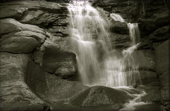 The Newtown Waterfalls. Black & White shot of the Newtown waterfalls Stock Photos