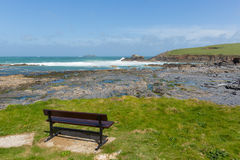 Newtrain Bay North Cornwall near Padstow and Newquay and on the South West Coast Path Stock Image
