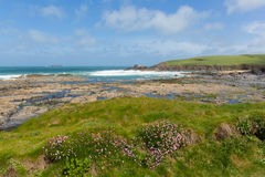 Newtrain Bay North Cornwall near Padstow and Newquay and on the South West Coast Path Stock Photo