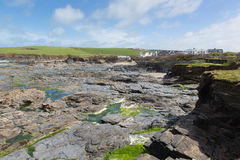 Newtrain Bay North Cornwall near Padstow and Newquay and on the South West Coast Path Stock Photography