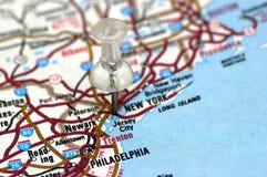 Neww York in der Karte Lizenzfreies Stockbild