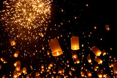 Newyear balloon traditional lantern Royalty Free Stock Photography