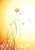 Newyear beautiful background 1. Abstract christmas card with snowflakes and stars on gradient backdrop Stock Photos