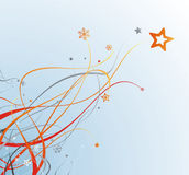 Newyear beautiful background 2. Abstract christmas card with snowflakes and stars on gradient backdrop Stock Photography