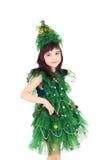 Newyear drzewa dziewczyna Zdjęcie Stock