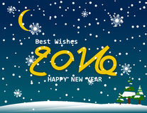 Newyear 2016 happy celebration snow vector concept Stock Images