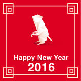 Newyear monkey. Happy new year 2016 Asia , vector polygon monkey Royalty Free Stock Images