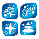 Newyear three-dimensional icons Royalty Free Stock Images