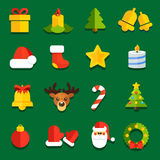 NewYearFlatIcons Royalty Free Stock Images